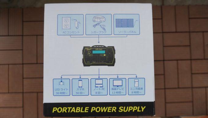 ボルトマジック ポータブル電源 PB450タフの使用できる電気機器の時間と充電回数