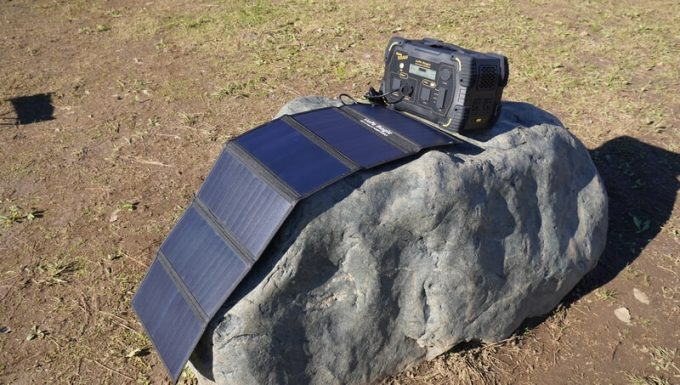 ボルトマジック ポータブル電源 PB450タフのソーラー発電