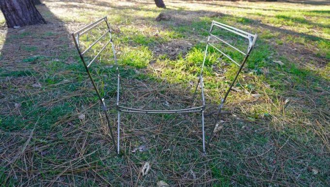 RAPCA(ラプカ)の組立方法2 脚が組み上がった状態