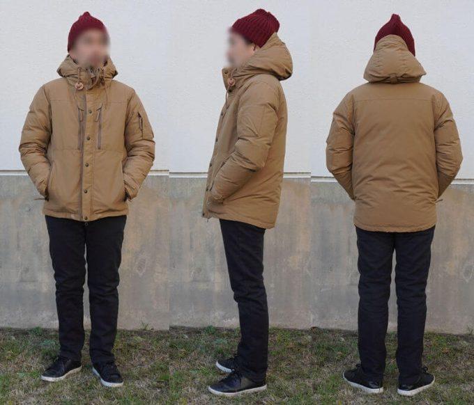 grn(ジーアールエヌ)ダウンジャケットのコーデ(メンズ) フェリシモ裏ボアパンツ 前ジッパークローズ