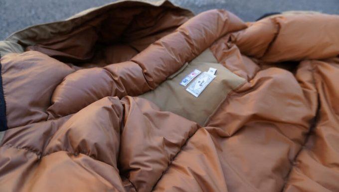 grn(ジーアールエヌ)ダウンジャケットのダウンのボリューム