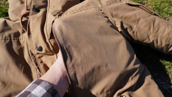 grn(ジーアールエヌ)ダウンジャケットのポケット (前上部)