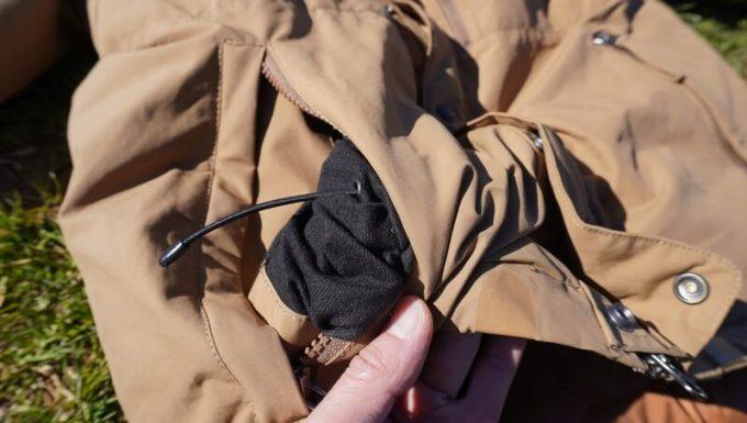 grn(ジーアールエヌ)ダウンジャケットの裾調整ドローコード