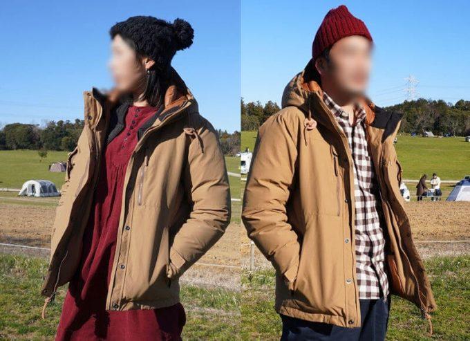 grn(ジーアールエヌ)ダウンジャケットはユニセックス(メンズ・レディース)で使える