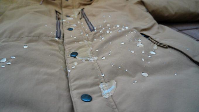 grn(ジーアールエヌ)ダウンジャケットの撥水性