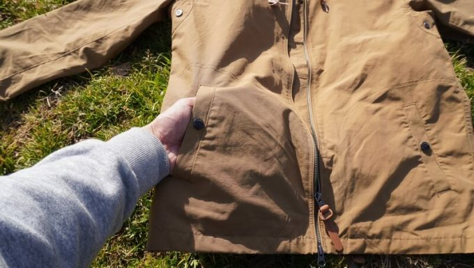 ジーアールエヌ(grn) マリンパーカーのポケット
