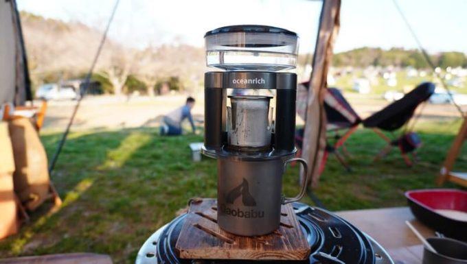 Oceanrich自動コーヒーミルG1(臼式)で挽いたコーヒーをOceanrich Plusで淹れる