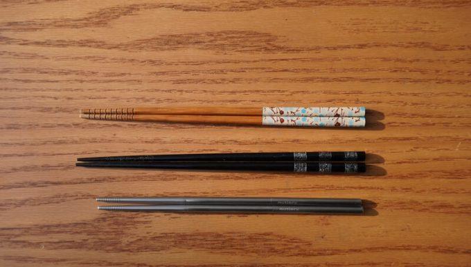 Outlery食器セットの箸のサイズを一般的な食器と比較