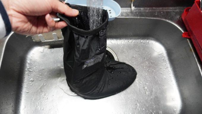 miraiON レインシューズカバーの水漏れ検査 1