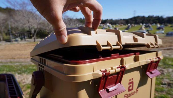 スタークアール(Starke-R)ボックスは水が入りにくい作り