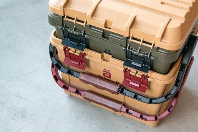 スタークアール(Starke-R)バスケットとボックスはコンパクトにスタッキング可能