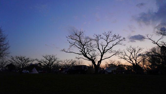 森のまきばでの夕焼け