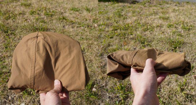 ジーアールエヌ(grn) マリンパーカーを畳んだ時のサイズ