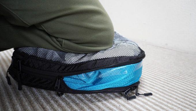 タスキン エアーデュオで毛布を圧縮するコツは体重をかけること