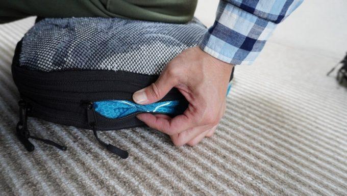 タスキン エアーデュオで毛布を圧縮するコツは手でジッパーを寄せること