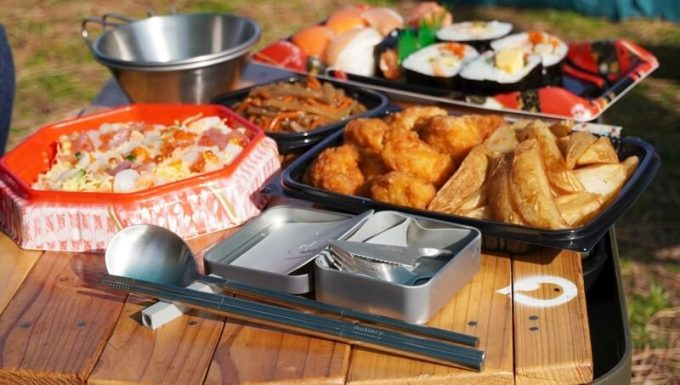 ピクニックでOutlery食器セットが大活躍