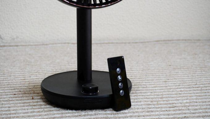 ルーメナー(LUMENA)の首振り扇風機 FAN PRIMEのりモコンは収納場所がない