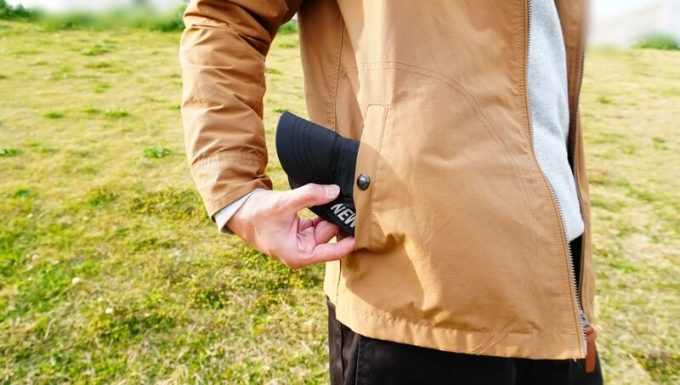 ニューエラ アウトドア バイクキャップ テック ストレッチはポケットに入るサイズに収納できる