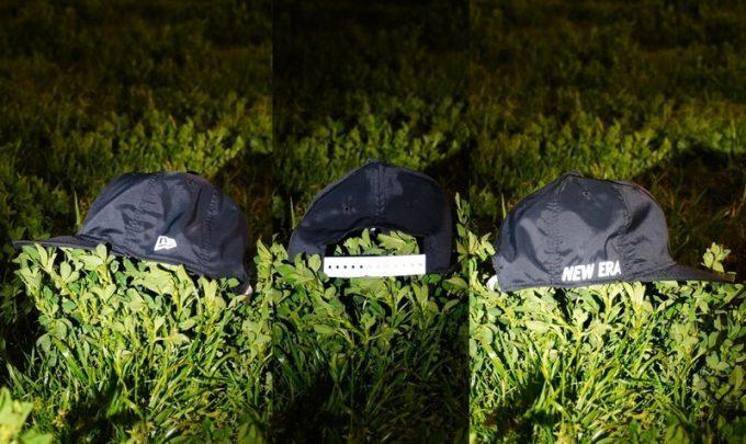 ニューエラ アウトドア バイクキャップ テック ストレッチの夜間の反射板効果