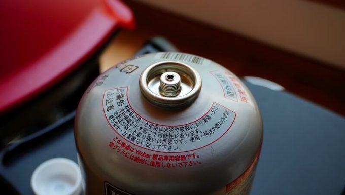 Weberガスグリル(Q1250)のOD缶の口金