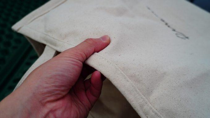 Rename帆布トートバッグの帆布生地の質感