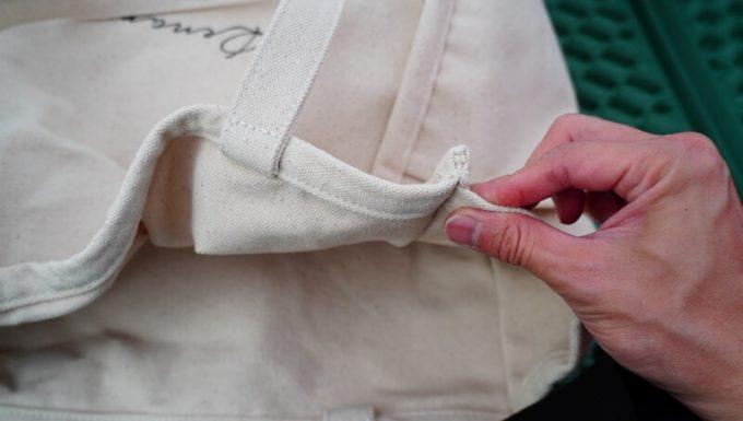 Rename帆布トートバッグの縫製