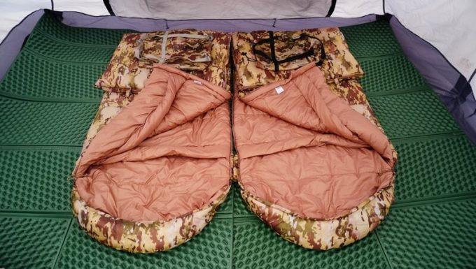 スナグパックの寝袋「マリナー スクエア」のライトジップとレフトジップ