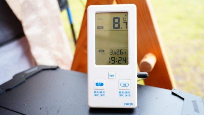 スナグパックの寝袋「マリナー スクエア」で寝た時の気温