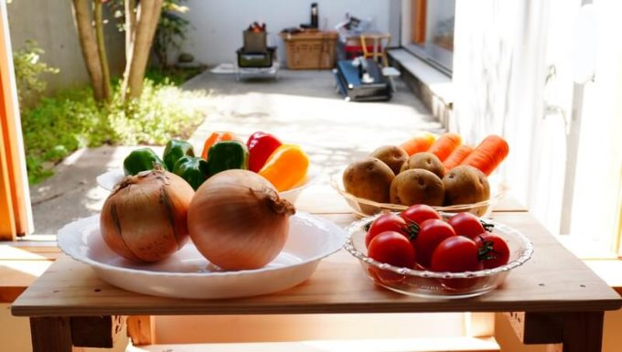 WeberのGo Anywareを使って焼く野菜