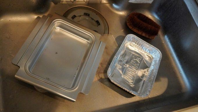 Weber電気グリルQ1400の汁受けを丸洗い