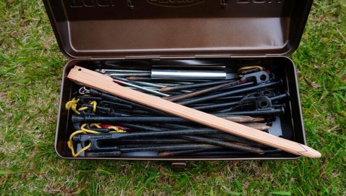 東洋スチール(TOYO) スチール製 山型工具箱 Y-350に40cmのペグは入らない