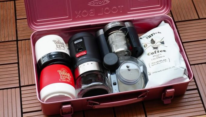 東洋スチールの工具箱T-360にコーヒー道具を入れる