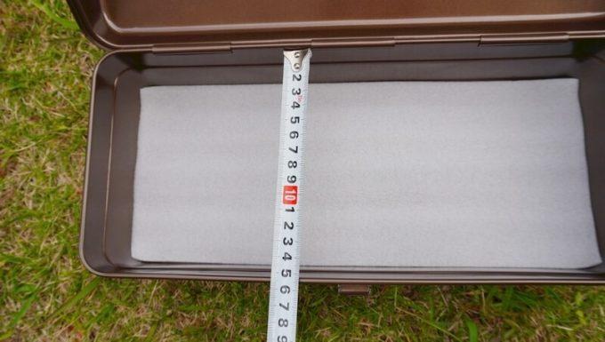 東洋スチール(TOYO) スチール製 山型工具箱 Y-350の奥行(内側)