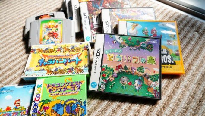 たくさんのゲームソフト