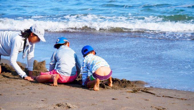 千葉 前原海岸で海水浴
