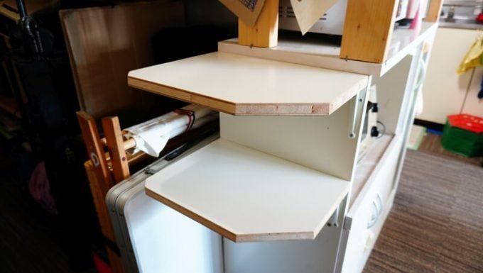 自作の2段棚