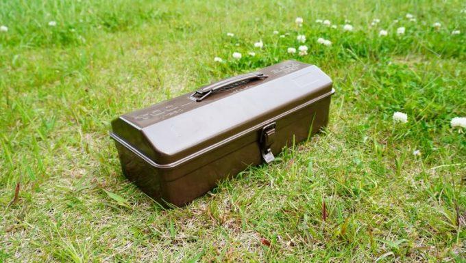 東洋スチール(TOYO) スチール製 山型工具箱 Y-350(珈琲ブラウン) フェリシモ限定
