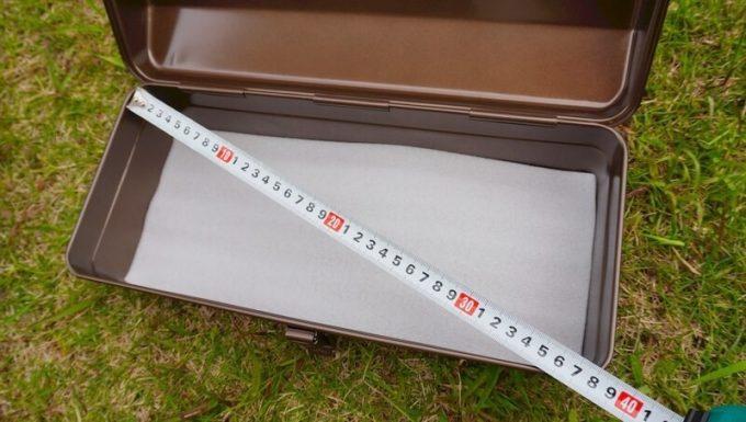 東洋スチール(TOYO) スチール製 山型工具箱 Y-350の対角サイズ(内側)