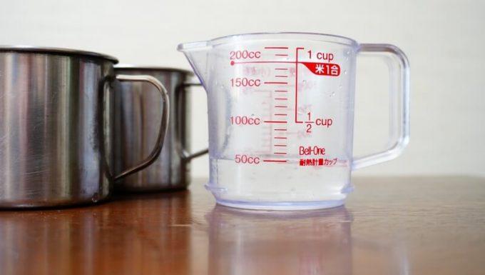 グラバー オールウェザーブランケットを比較検証 水は50ml