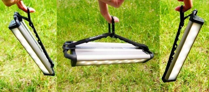 クレイモア 3フェイス プラス Mは吊り下げて左右に照らす方向を変えられる