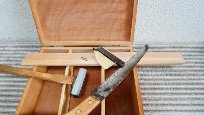 自作スパイスボックスの小棚の材料