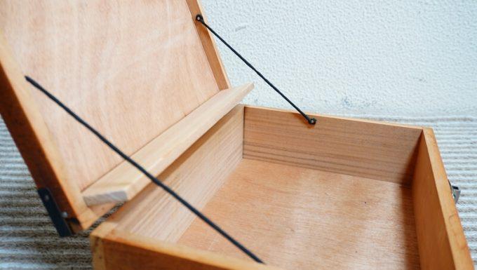 自作スパイスボックスの蓋ストッパー