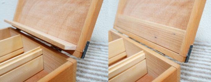 自作スパイスボックスの小棚