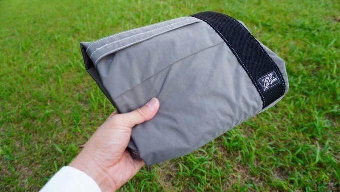 フェリシモ USEDo 超ビッグサイズナイロンバッグを畳んだ状態