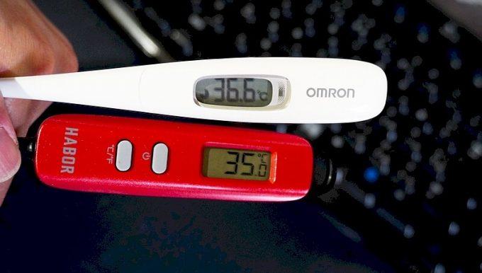 Haborの調理温度計の誤差を体温計と比較