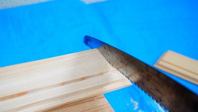 自作スパイスボックスの作り方 間仕切りの木材を切る