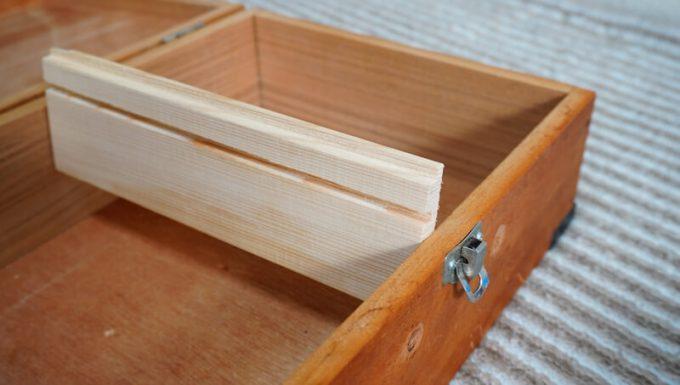 自作スパイスボックスの作り方 間仕切りの木材は少し大きめに切る