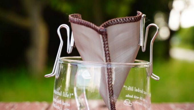 ステンレス珈琲フィルターで珈琲を淹れる2 ポケットフィルターをカップにセット