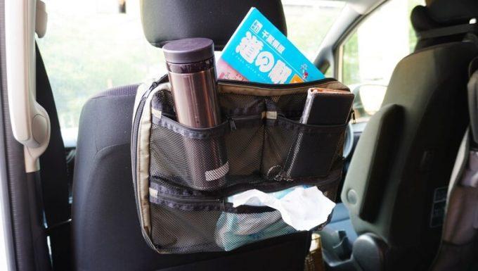 フェリシモ USEDo メッシュポケットを車で使う