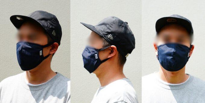 grnのアウトドアマスクを装着
